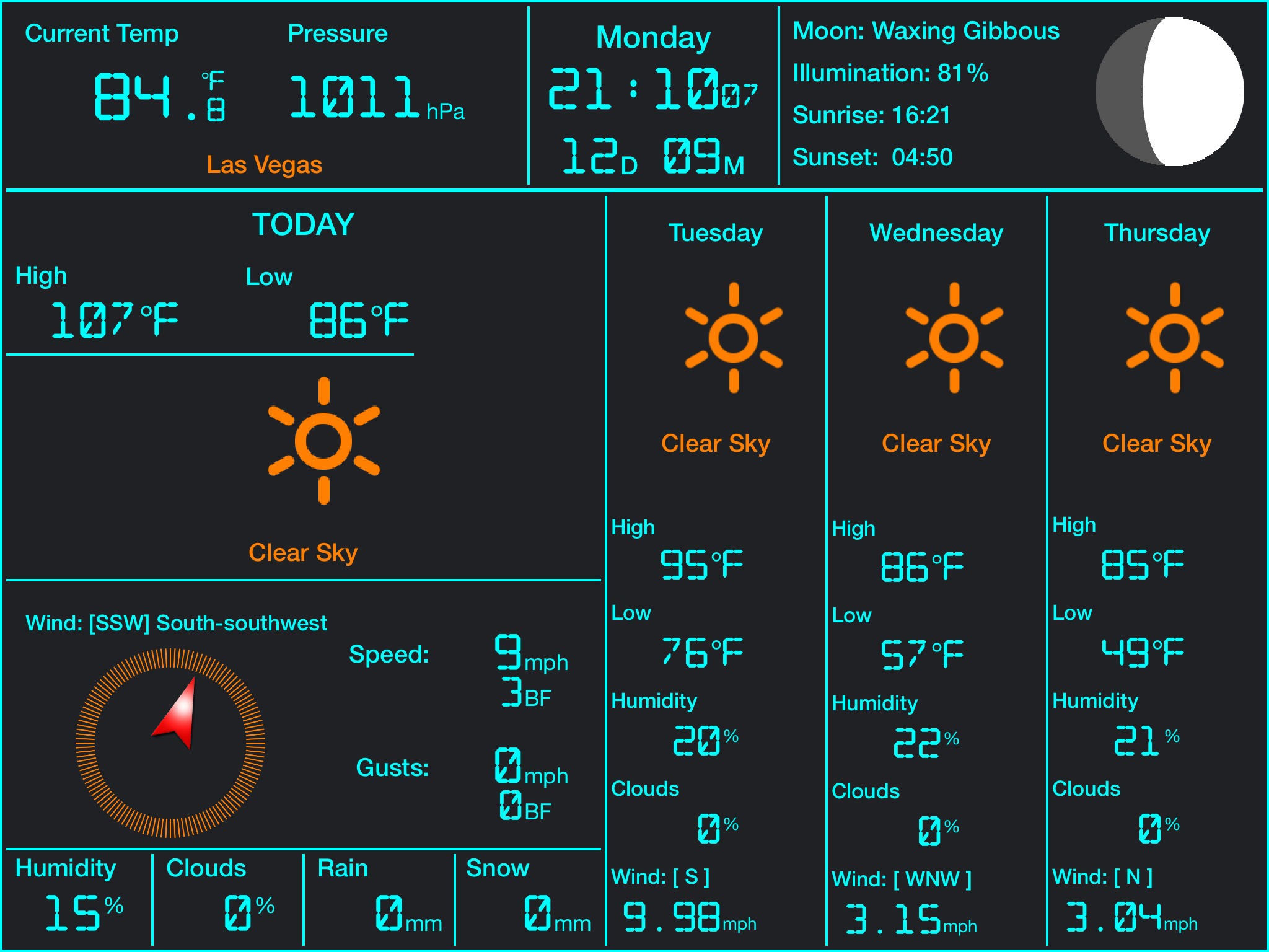 Weather Station iPad