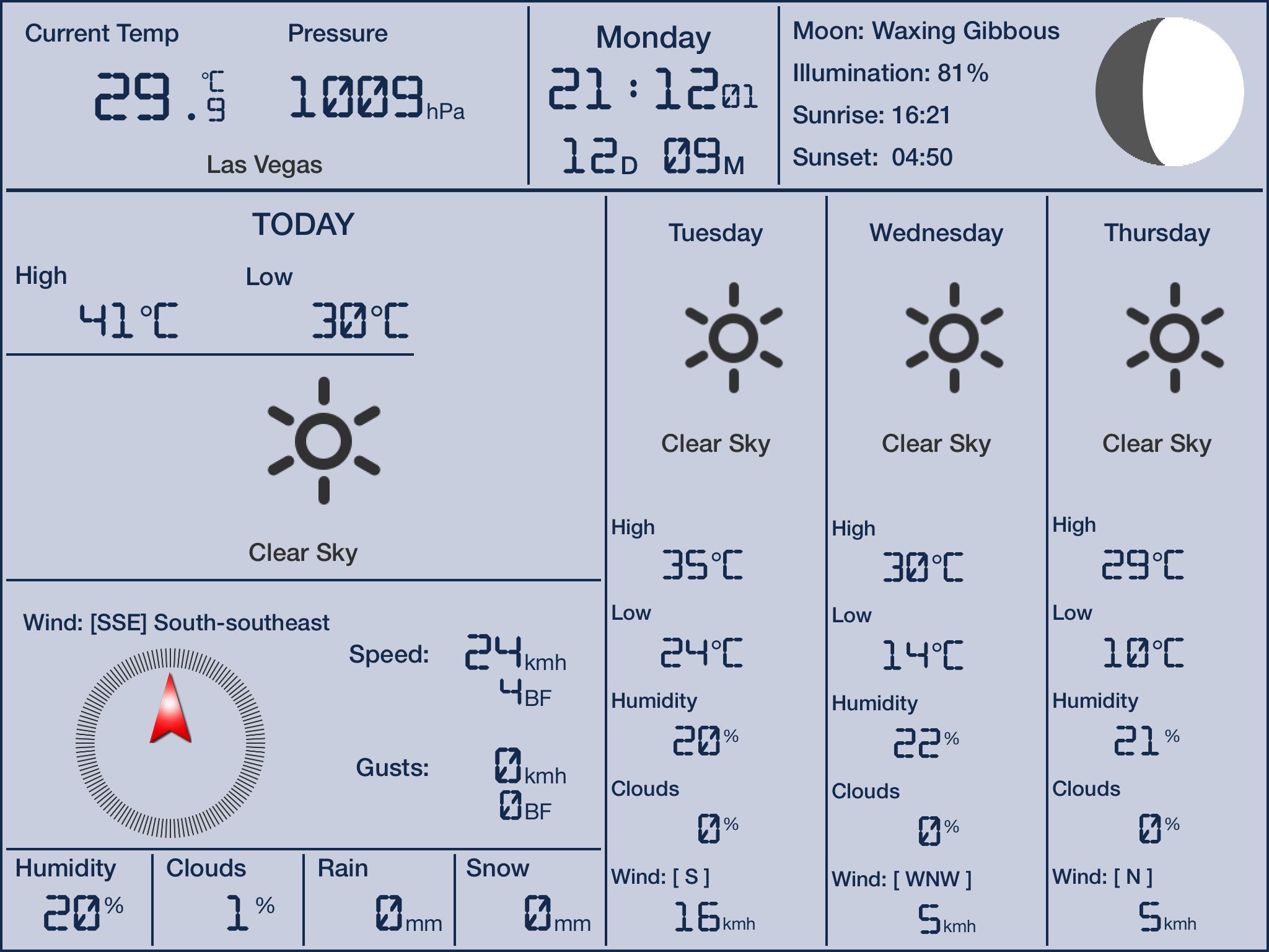 Weather Station iPad